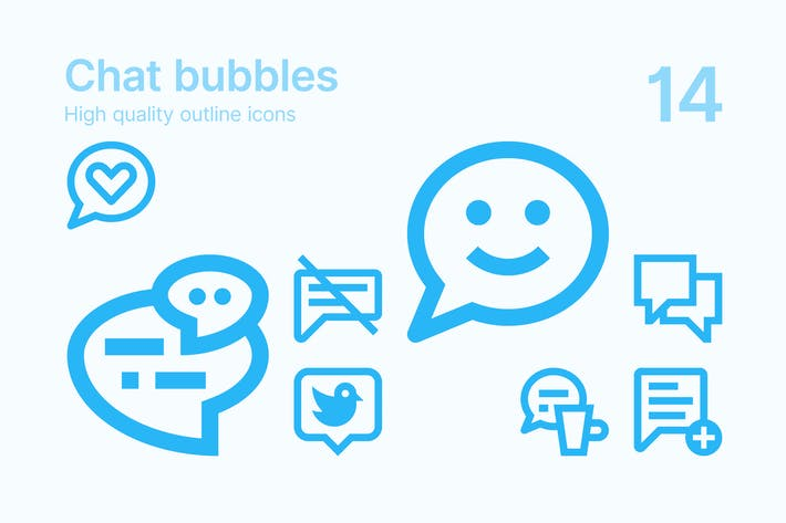 Thumbnail for Chat Bubbles Icons