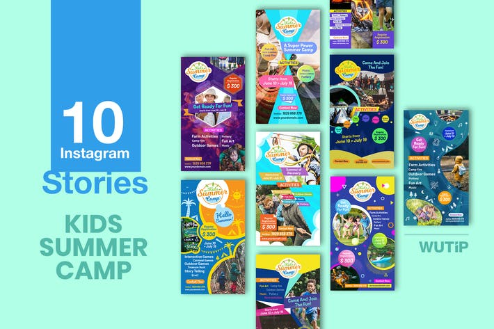 Thumbnail for 10 Instagram Stories - Kids Summer Camp