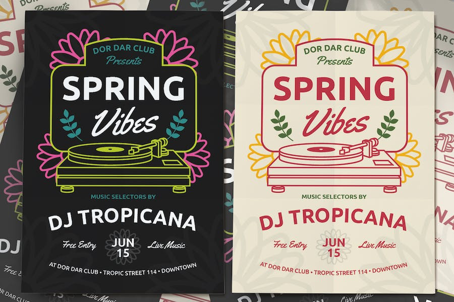 Spring Music Events Flyer