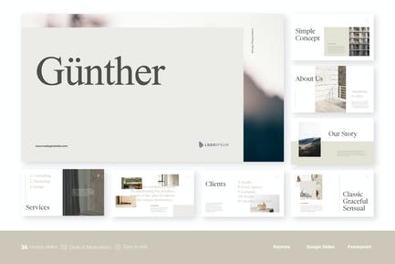 Gunther - Clean Minimalist Presentation