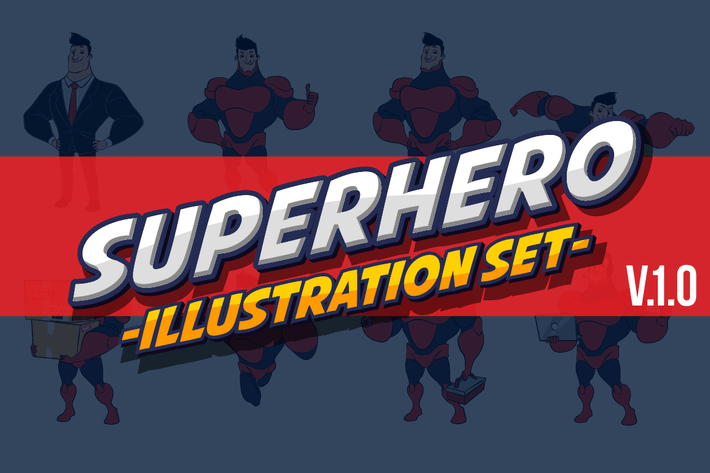 Thumbnail for Superhero Illustration Set V.1.0
