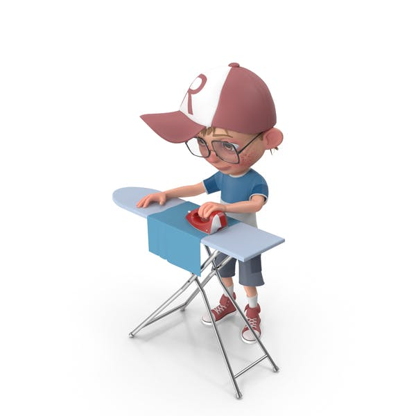 Thumbnail for Cartoon Boy Harry Ironing