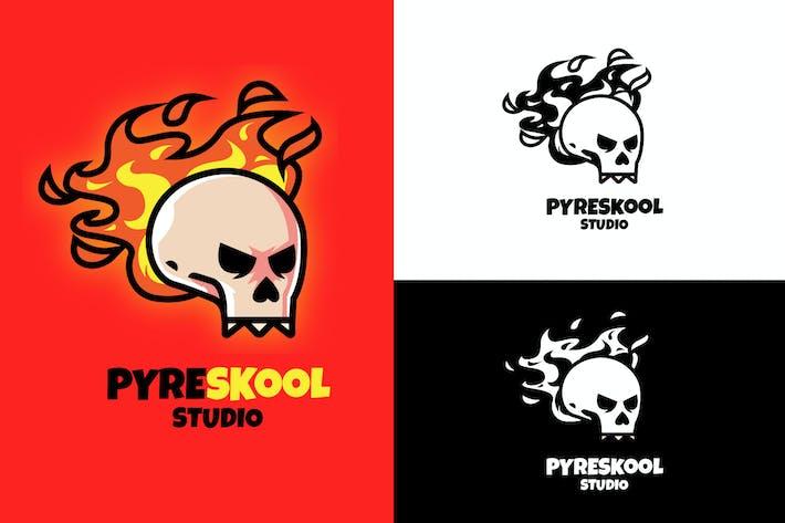 Thumbnail for Feuerschädel Maskottchen Logo