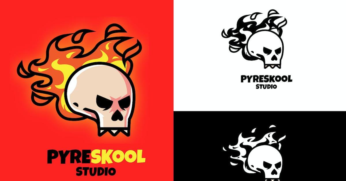 Download Fire Skull Mascot Logo by vincentllora