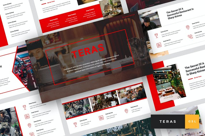 Cover Image For Teras - Restaurant Google Slides Template