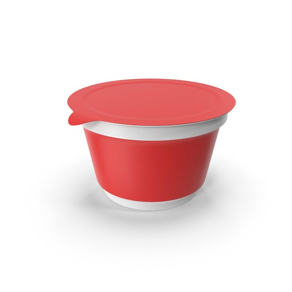 Sour Cream Cup Red