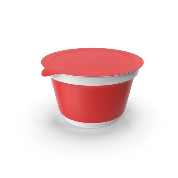 Чашка сметаны красный