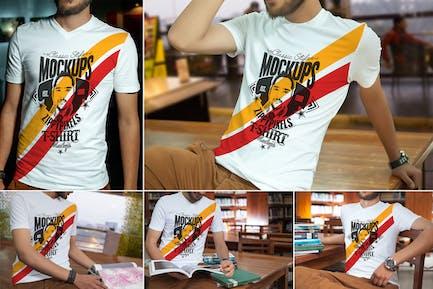 V-Neck T-Shirt Mockups