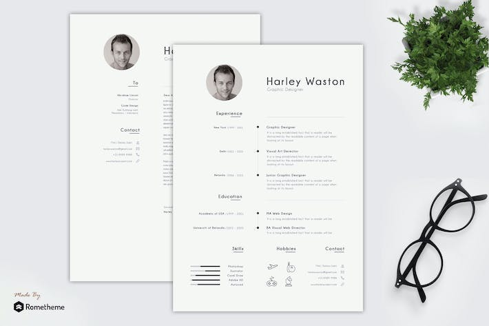 Thumbnail for Harley - Clean Minimalist Resume TS