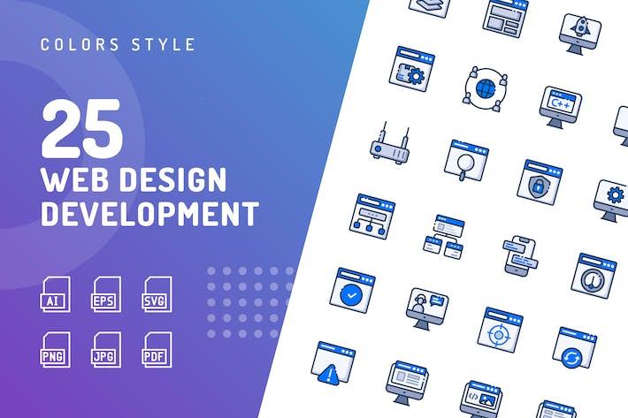 Thumbnail for Web Design Entwicklung FarbIcons