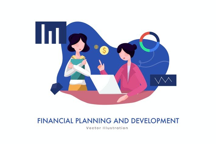 Thumbnail for Financial Business Plan vector Illustration