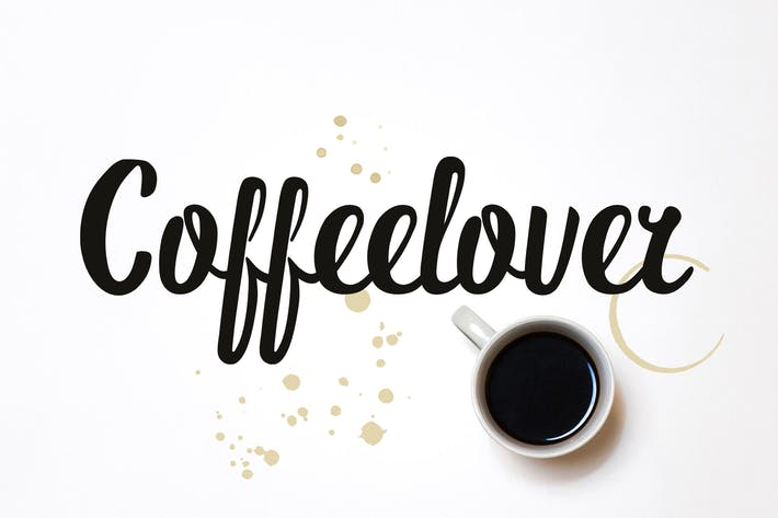 Thumbnail for Coffeelover Font