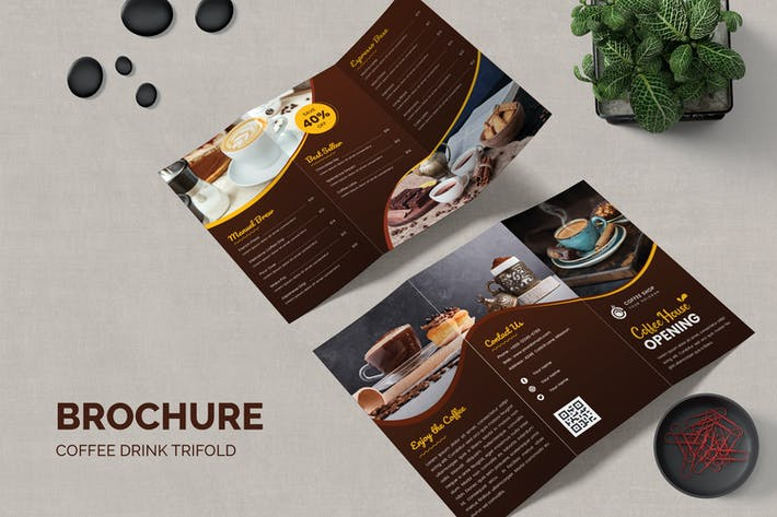 Thumbnail for Coffee Drink Trifold Brochure
