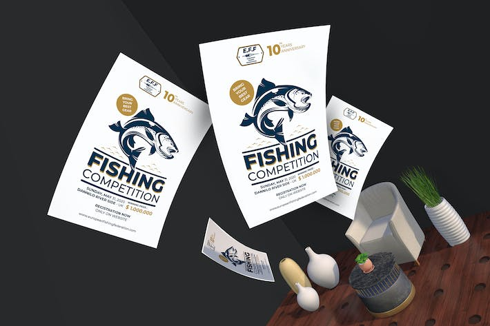 Thumbnail for Fishing Competition Flyer & Poster Template