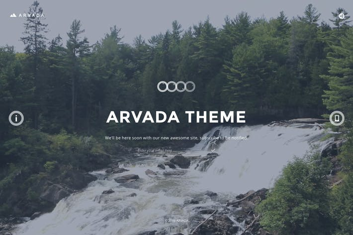 Cover Image For Arvada — Creative Coming Soon & Maintenance Mode T