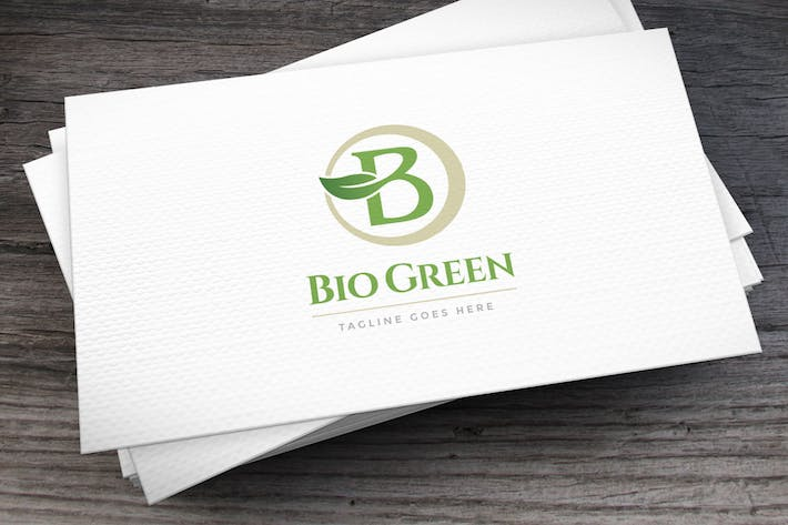 Cover Image For Bio Green Letter B Logo Template
