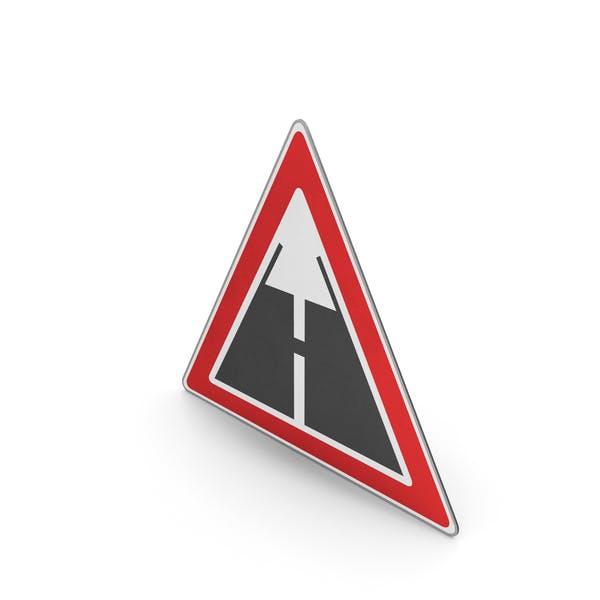 Verkehrszeichen Ende der asphaltierten Straßenoberfläche