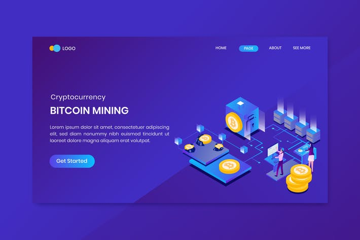 Thumbnail for Bitcoin Mining Landing Page Template