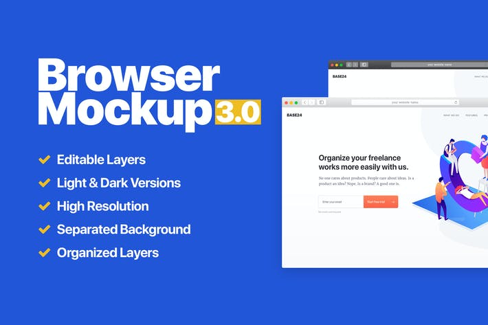 Thumbnail for Website Browser Mockup 3.0