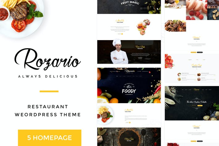 Thumbnail for Rozario - Restaurant & Food HTML Template