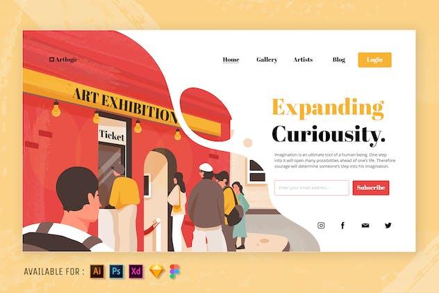 The Art Exhibition - Web Illustration