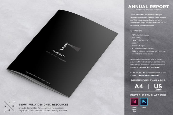 Thumbnail for Company Annual Report Brochure Template
