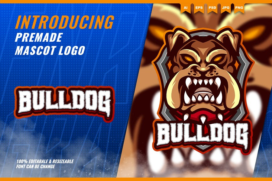 Mad Bulldog - Mascot Esport Logo Template