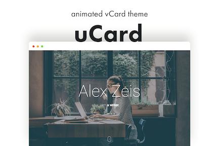 uCard - Animated vCard WordPress Theme