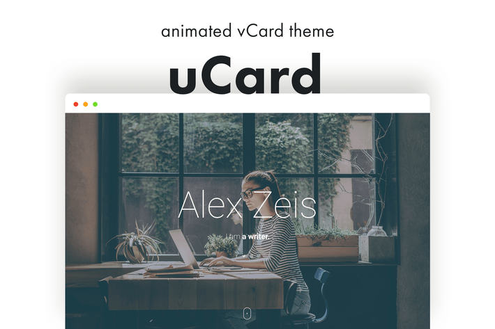 Thumbnail for UCard - Animierte vCard WordPress Thema