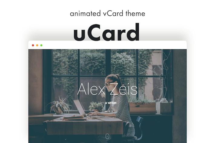 Thumbnail for uCard - Animated vCard WordPress Theme