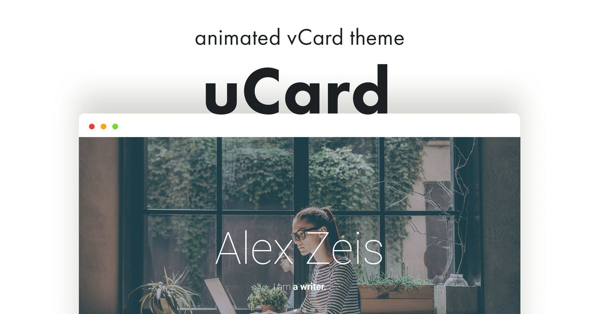 uCard - Animated vCard WordPress Theme by pixelwars