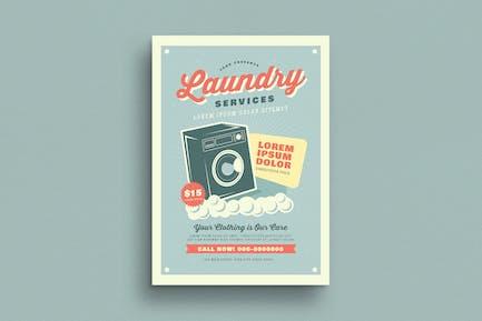 Retro Laundry Services Flyer