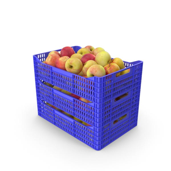 Plastic Crates of Apples