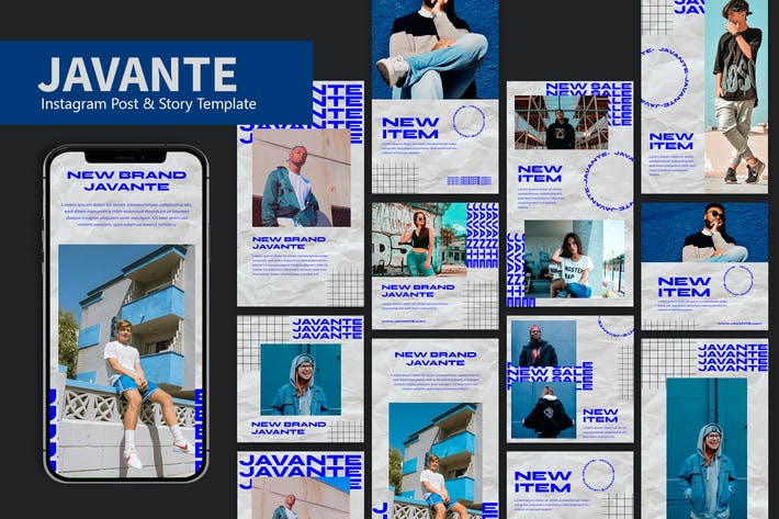 Thumbnail for Javante - Instagram Post & Story Pack JW
