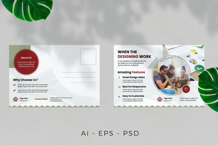 Thumbnail for Business Agency Postcard Design