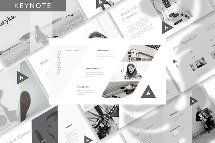 Cover Image For Muzyka - Music Keynote Template