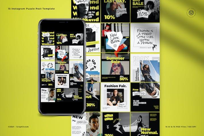 Fashion Retro 60s Puzzle Instagram Puzzle