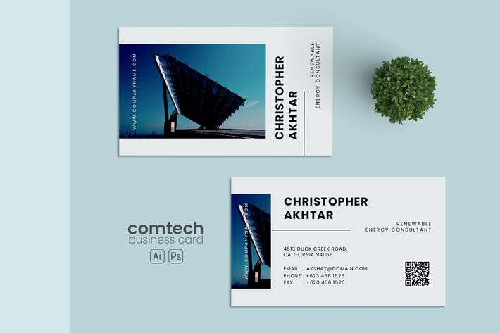 Thumbnail for Minimalist Business Card AI and PSD Vol.11