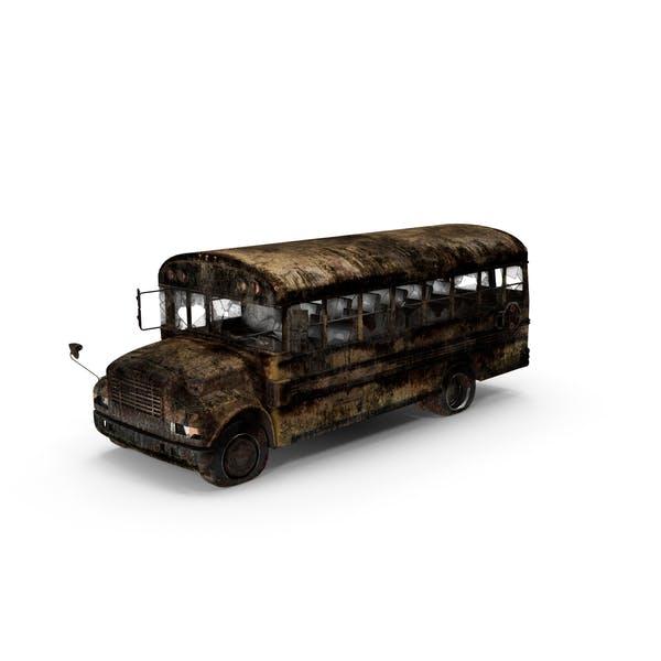 Уничтоженный школьный автобус