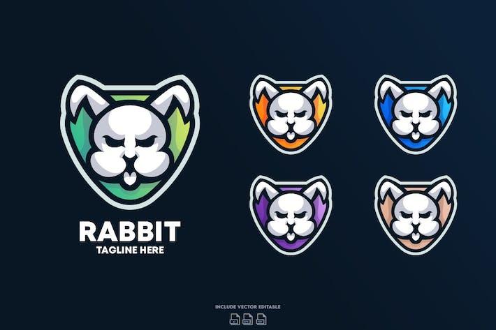 Thumbnail for Modèle de design de Logo de lapin
