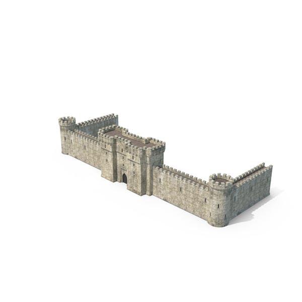 Замковая стена с Portcullis