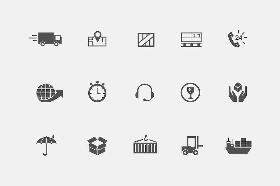 15 Shipping and Postage Icons