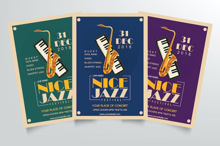 Thumbnail for Jazz Music Flyer Template