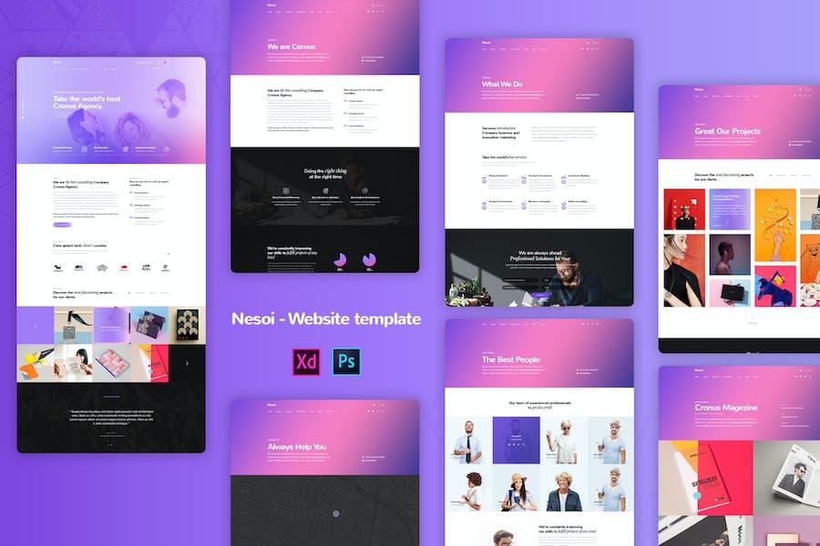 Nesoi - Creative agency Website Templates