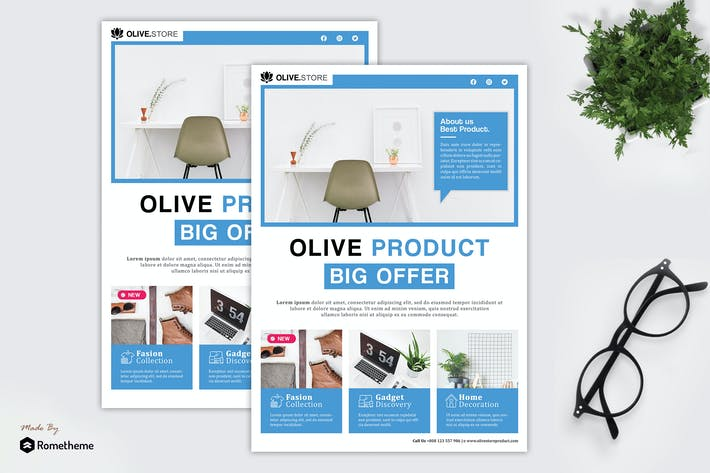 Thumbnail for Olive - Product Promotion Flyer HR