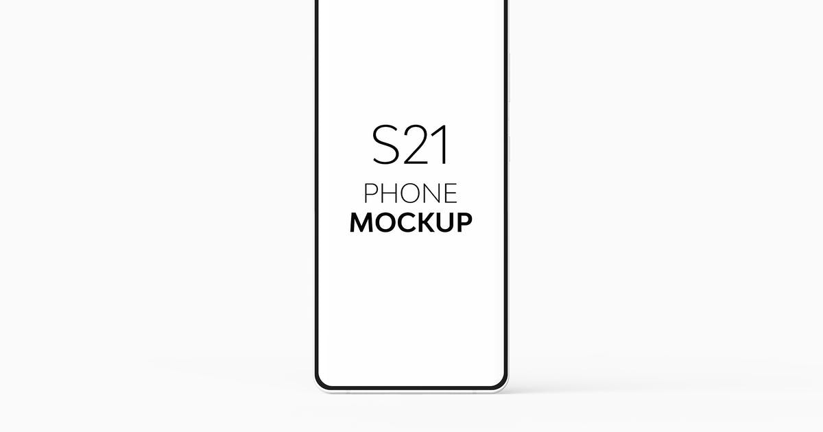 Download S21 Phone Mockup Set by UnicDesign