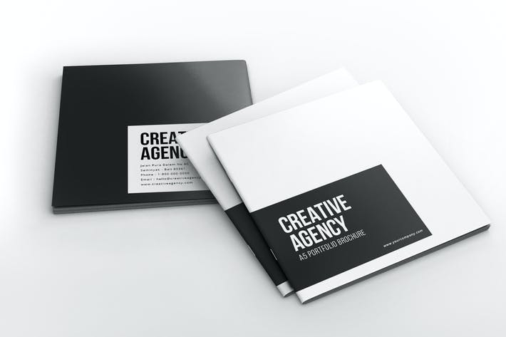 Cover Image For Creative Agency - Square Portfolio Brochure