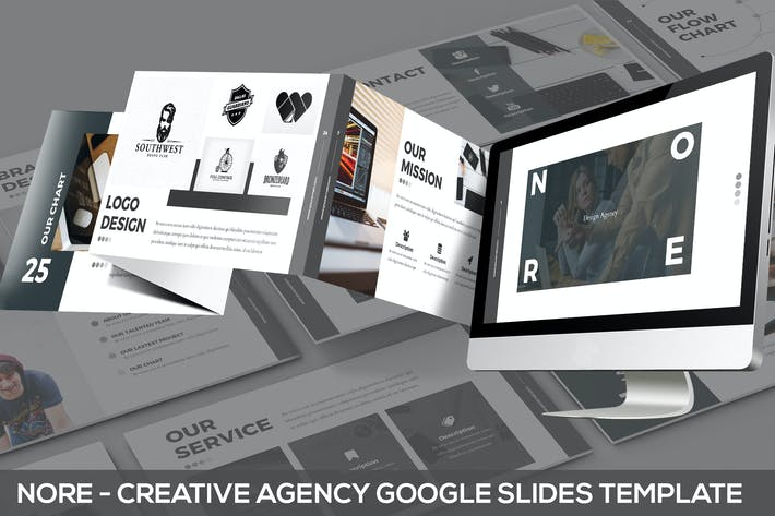 Thumbnail for Nore - Design Agency Google Slides Template