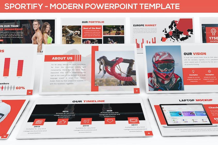 Sportify - Modern Powerpoint Template
