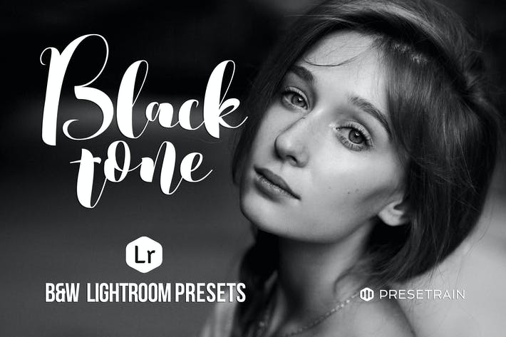 Thumbnail for Blacktone Black & White Lightroom Presets